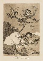 Francisco de Goya, 'Nine plates from 'Los Caprichos', the Second Edition'
