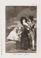 Francisco de Goya, 'Tal para qual, plate 5 from 'Los Caprichos', First edition', 1799