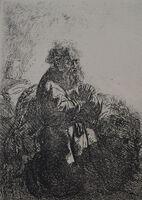 Rembrandt van Rijn, 'St. Jerome Kneeling in Prayer, Looking Down ', Etched in 1635, Printed in 1906 (Beaumont, Paris)