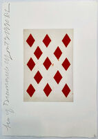 Donald Sultan, 'Playing Cards: Ten of Diamonds', 1990