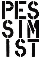 Christopher Wool, 'Pessimist - page from the Black Book', 1989