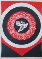 Shepard Fairey (OBEY), 'Obey Peace Dove (Black)', 2011