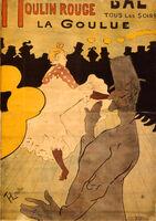 Henri de Toulouse-Lautrec, 'Moulin Rouge-La Goulue', 1891