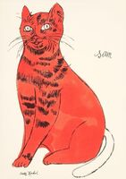 Andy Warhol, 'Sam, from 25 Cats Named Sam and One Blue Pussy', ca. 1954