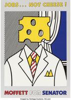 Roy Lichtenstein, 'Jobs Not Cheese', 1982