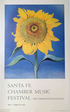 Georgia O'Keefe Santa Fe Chamber Music Festival , The Thirteenth Season, July 7-August 19 Poster