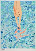 David Hockney, 'Olympic Poster before the text', 1972