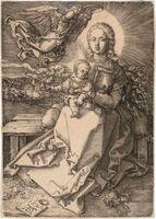 Albrecht Dürer, 'THE VIRGIN AND CHILD CROWNED BY ONE ANGEL (BARTSCH 37; MEDER 41)', 1520