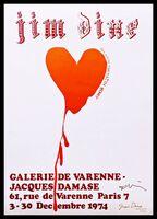 Jim Dine, 'Red Design for Satin Heart (Hand Signed)', 1974-2018