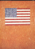 Jasper Johns, 'Flag On Orange Field', 1996
