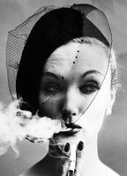 William Klein, 'Smoke & Veil (Vogue), Paris, France', 1958