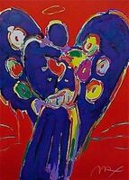 Peter Max, 'Angel with Heart on Red', 1996