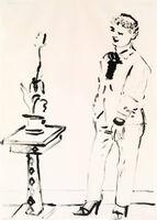 David Hockney, 'Celia Musing', 1979
