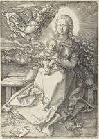 Albrecht Dürer, 'The Virgin and Child crowned by one Angel', 1520