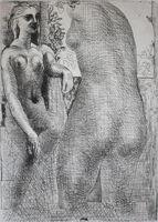 Pablo Picasso, 'Modèle et grande sculpture de dos: La Suite Vollard', 1933