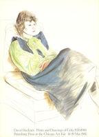 David Hockney, 'Celia Wearing Checkered Sleeves', 1981