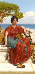 John William Godward, 'By the Blue Ionian Sea', 1916