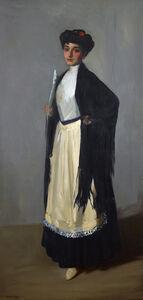 Robert Henri, 'Modiste (Spanish Girl, Madrid)', 1906