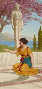 John William Godward, 'Ancient Pastimes', 1916