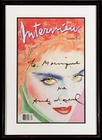 Andy Warhol, 'Interview Magazine Cover signed and inscribed by Warhol to his film star Monique Van Vooren (from the Estate of Monique Van Vooren)', 1985