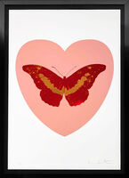 Damien Hirst, ''I Love You' Butterfly, Pink/Red/Gold', 2015