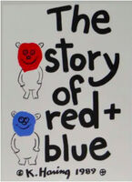 Keith Haring, 'The Story of Red and Blue (Cover)', 1989