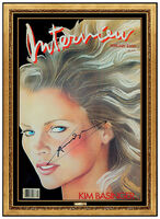 Andy Warhol, 'Andy Warhol Hand Signed Kim Bassinger Color Lithograph Interview Modern Artwork', 1986