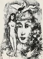 Marc Chagall, 'Le Clown Blanc from Derrière le Miroir', 1964