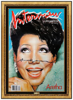Andy Warhol, 'Andy Warhol Hand Signed Aretha Franklin Color Lithograph Interview Magazine Art', 1986