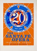 Robert Indiana, 'Santa Fe Opera (Hand signed, numbered)  ', 1976