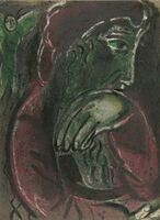"Marc Chagall, 'Job Disconsolate from ""Drawings From the Bible""', 1960"