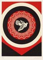 Shepard Fairey (OBEY), 'Dove Target Black', 2012