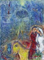 Marc Chagall, 'Les fiancés au cirque', 1982