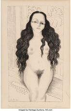 Nude with long hair (Dolores Olmedo)