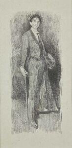 After James McNeill Whistler by Beatrice Whistler, 'Count Robert de Montesquiou', 1895