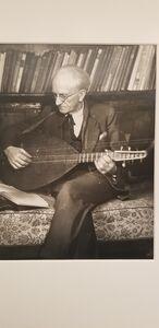 August Sander, 'Sander with mandolin', 1928