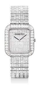 Audemars Piguet, 'A magnificent and exceptionally rare white gold with baguette diamond-set bracelet watch with baguette diamond dial', Circa 2005