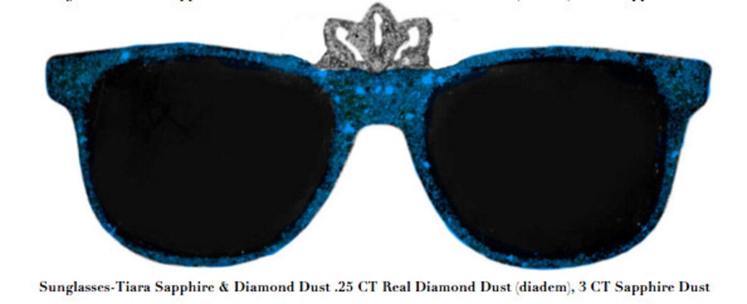 Stacy Engman, 'Sunglasses-Tiara Sapphire & Diamond Dust .25 CT Real Diamond Dust (diadem), 3 CT Sapphire Dust', 2019