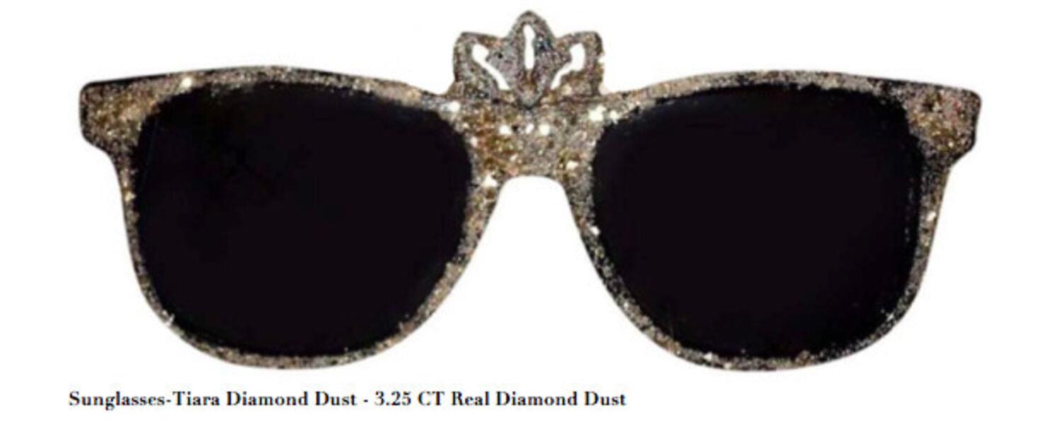 Stacy Engman, 'Sunglasses-Tiara Diamond Dust - 3.25 CT Real Diamond Dust, Mixed Media', 2019