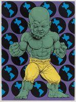 Ron English, 'Texas Temper Tot (Green and Yellow)', 2016