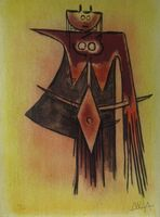 Wifredo Lam, 'Demoiselle Blasonee, from the suite Pleni Luna.', 1974