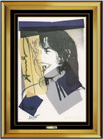 Andy Warhol, 'Andy Warhol Authentic Mick Jagger Portrait Lithograph Signed Framed RARE Artwork', 1975