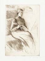 Mary Cassatt, 'The Mandolin Player', 1889