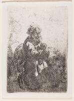 Rembrandt van Rijn, 'St. Jerome Kneeling in Prayer, Looking Down', circa 1635