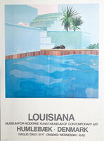 David Hockney, 'David Hockney Poster, Louisiana , Museum for Moderne Kunst/ Museum of Contemporary Art, Humlebaek, Denmark, Poster ', 1976