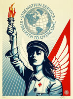 Shepard Fairey, ''Angel of Hope & Strength'', 2020