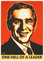 Shepard Fairey (OBEY), 'Bush Hell', 2004