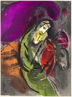 "Marc Chagall, 'Jeremiah - from ""Illustrations for the Bible""', 1956"