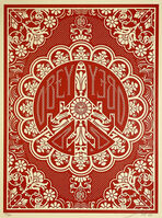Shepard Fairey, ''Peace Bomber' (red)', 2008
