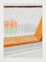 David Hockney, 'Rain on the Studio Window', 2009